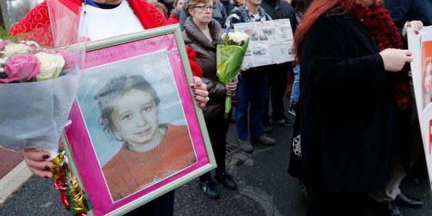 Un rassemblement en mémoire d'Estelle Mouzin, le 11 janvier 2014 à Guermantes, près de