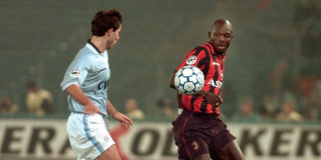 George Weah sous le maillot du Milan AC en