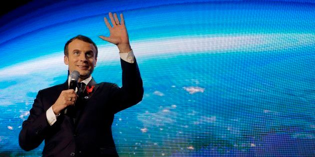 Emmanuel Macron, lors du One Planet Summit, le 11 décembre