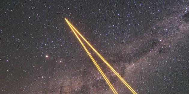 Le message d'Arecibo a été envoyé il y a 44 ans (photo d'illustration : les lasers du Très Grand Télescope...