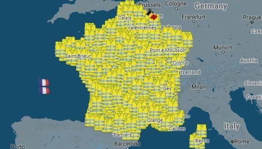 La carte des 2000 manifestations des gilets jaunes prévues ce