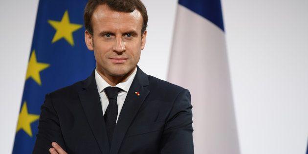Emmanuel Macron à l'Élysée le 21
