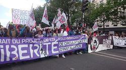 Pour Clément Méric et contre la loi asile, convergence des cortèges dans les rues de