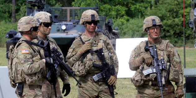 Des soldats américains lors de l'édition 2017 de l'exercice Saber