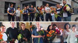 Ces Belges ont distribué 700 fleurs aux policiers après l'attentat de