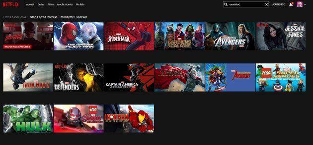 Les programmes Marvel actuellement disponible sur Netflix en un seul