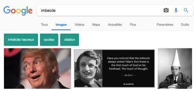 La photo de Donald Trump est la première à sortir dans Google Images lorsqu'on tape le mot-clé