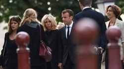Le couple Macron et plusieurs centaines de personnes aux obsèques de Jean-Claude