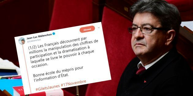 Jean-Luc Mélenchon a dénoncé sur Twitter Christophe Castaner et