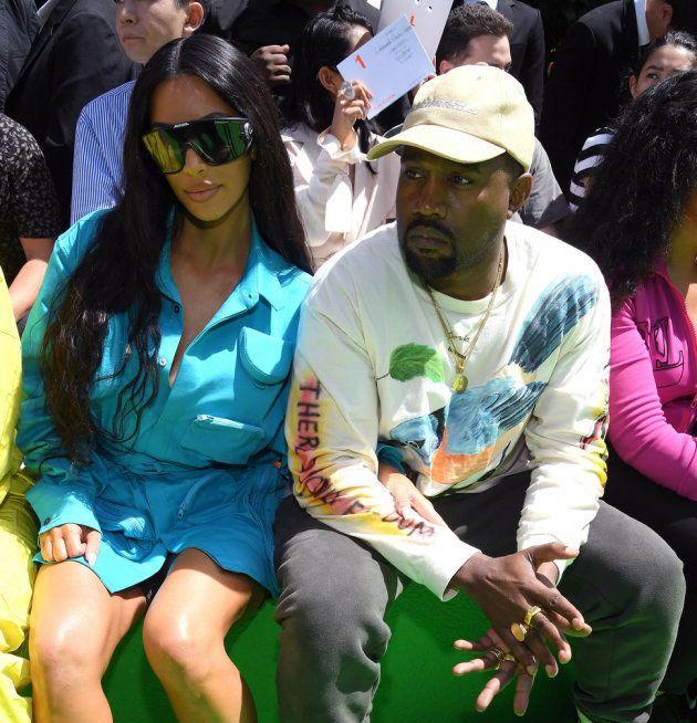 Kim Kardashian et Kanye West à Paris le 21 juin