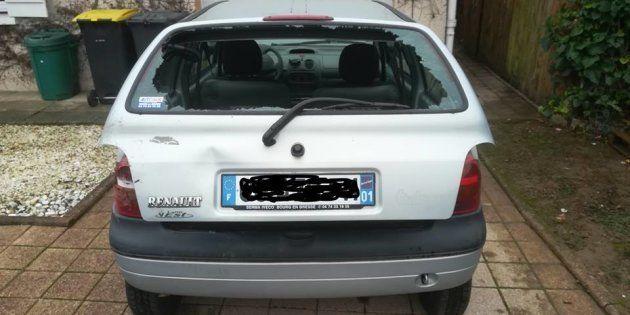 Sur Facebook, Raphael Duret a publié une photo de son véhicule