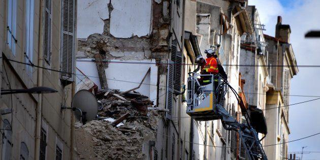 Huit personnes sont décédées dans l'effondrement de deux immeubles, rue d'Aubagne, le 5 novembre