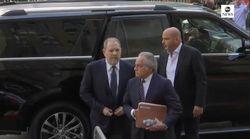 Les images d'Harvey Weinstein au tribunal de New York, où il a plaidé
