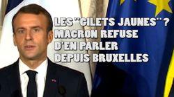 Les gilets jaunes? Macron a ressorti son excuse favorite pour esquiver le