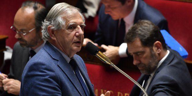 Le ministre Jacques Mézard à l'Assemblée nationale le 22