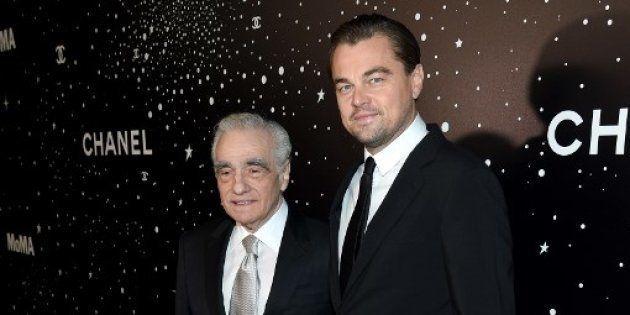 Martin Scorsese et Leonardo DiCaprio sur le tapis rouge du gala du MoMA, le 19 novembre 2018 à New