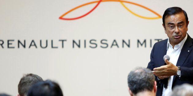 Carlos Ghosn, ici lors d'une conférence de presse du groupe Renault-Nissan-Mitsubishi, pourrait payer...