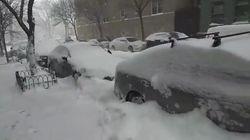 Le puissant blizzard qui s'abat sur la côte Est des États-Unis en