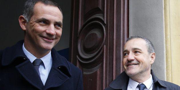 Gilles Simeoni et Jean-Guy Talamoni à Bastia le 3 décembre