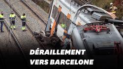 Un glissement de terrain fait dérailler un train près de Barcelone, 1