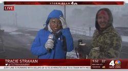 Cette journaliste en plein blizzard a pu compter sur la gentillesse d'un de ses