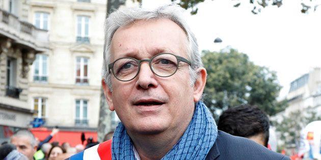 Pierre Laurent lors d'une manifestation à Paris en octobre