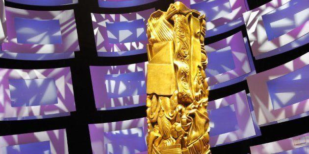Le trophée des César sur la scène du théâtre du Châtelet, le 27 février 2010 à
