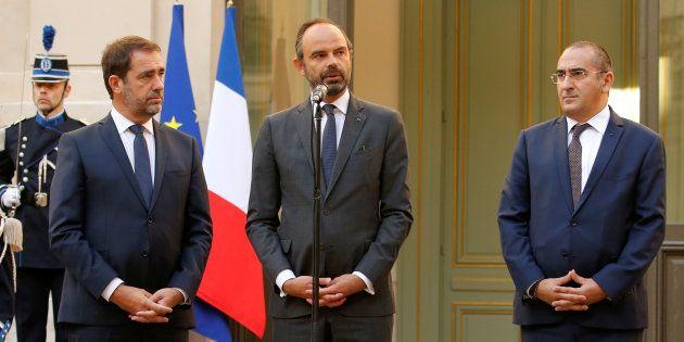 Laurent Nuñez, ici lors de la passation de pouvoirs avec Christophe Castaner et Édouard Philippe, s'est...