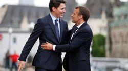 Le couple Macron-Trudeau plus uni que jamais face à