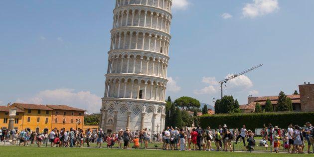 La tour de Pise photographiée le 8 août