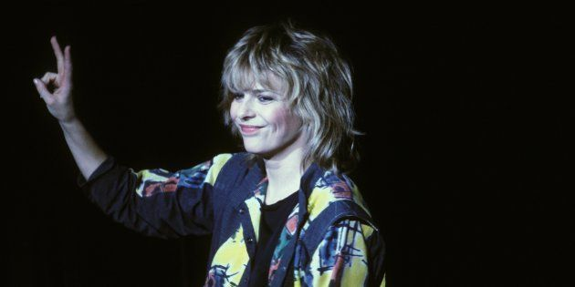 France Gall en concert en novembre 1984 a Bruxelles,