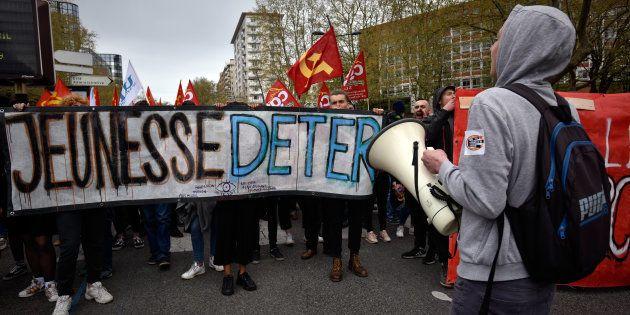 Les étudiants et lycéens se sont déjà mobilisés par le passé contre la loi Orientation et Réussite, ici...