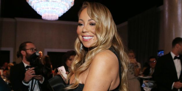 Mariah Carey à son arrivée aux Golden Globes, le 7 janvier