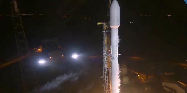 Une fusée SpaceX a envoyé dans l'orbite