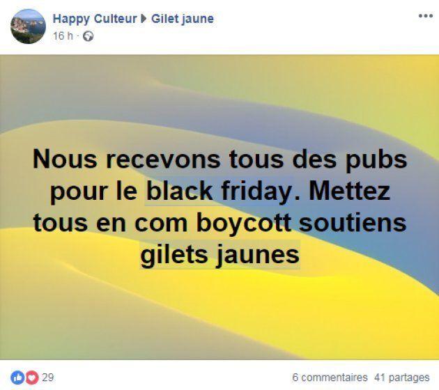 Les appels au boycott ou au blocage du black friday se multiplient sur les réseaux sociaux gilets