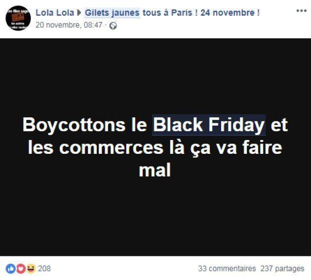 Les appels au blocage ou au boycott du black friday se multiplient sur les réseaux sociaux gilets