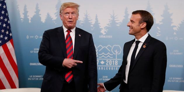 G7: Trump défierait-il Macron au bras de
