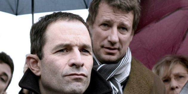 Benoît Hamon et l'écologiste Yannick Jadot, alliés pendant la campagne