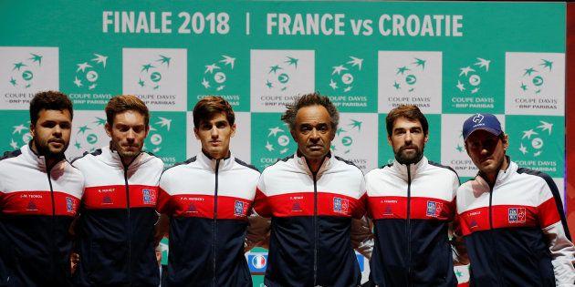 A la veille de la finale de Coupe Davis France-Croatie, le capitaine de l'équipe de France Yannick Noah...