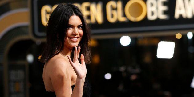 Moquée pour son acné aux Golden Globes, Kendall Jenner répond