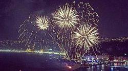 Premier feu d'artifice à Nice depuis l'attentat du 14 juillet