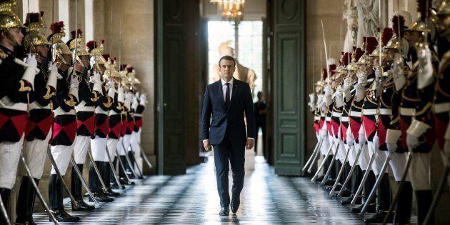 Emmanuel Macron lors de son précédent discours devant le Congrès réuni à