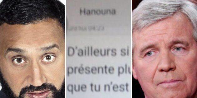 Bruno Masure dévoile les SMS d'insultes de Cyril Hanouna (qui dément les avoir