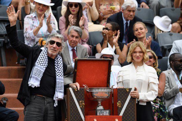 Le musicien britannique Roger Waters et la comédienne Léa