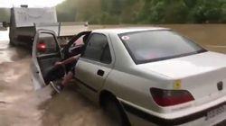 Les automobilistes ont filmé leur galère sur les routes