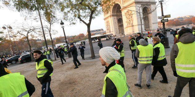 Gilets jaunes à Paris le 17