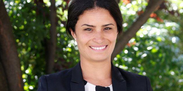 Sonia Krimi, ici lors de son arrivée à l'Assemblée en juin 2017, s'est