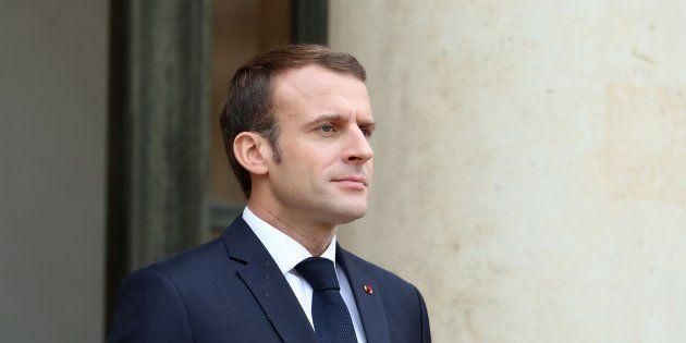 Emmanuel Macron à l'Élysée le 12 novembre