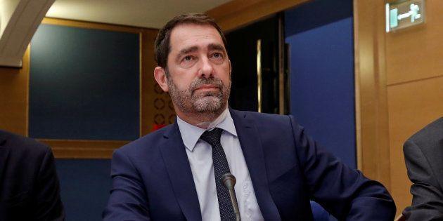 Christophe Castaner au Sénat à Paris le 31