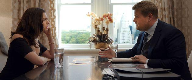 Anne Hathaway et James Corden